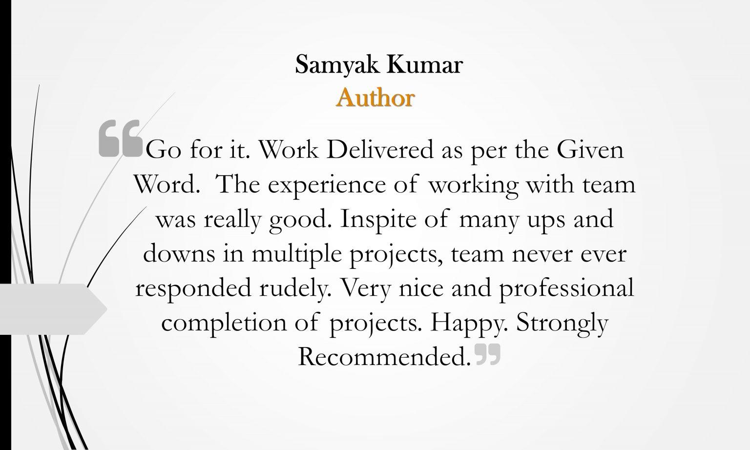Samyak Kumar
